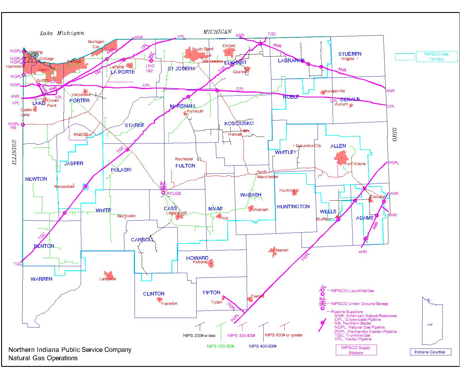 pipeline map: